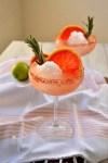 Rosemary Grapefruit Snowball Margarita