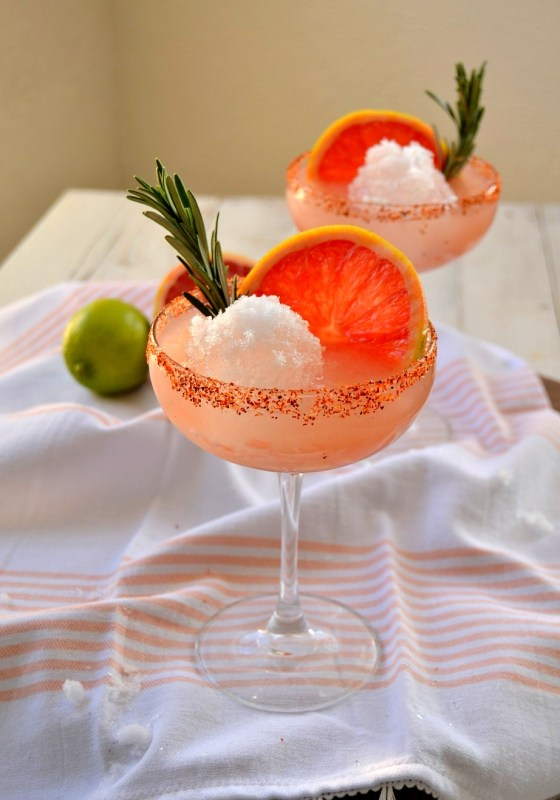 Fair Robin Revival - Rosemary Grapefruit Snowball Margarita