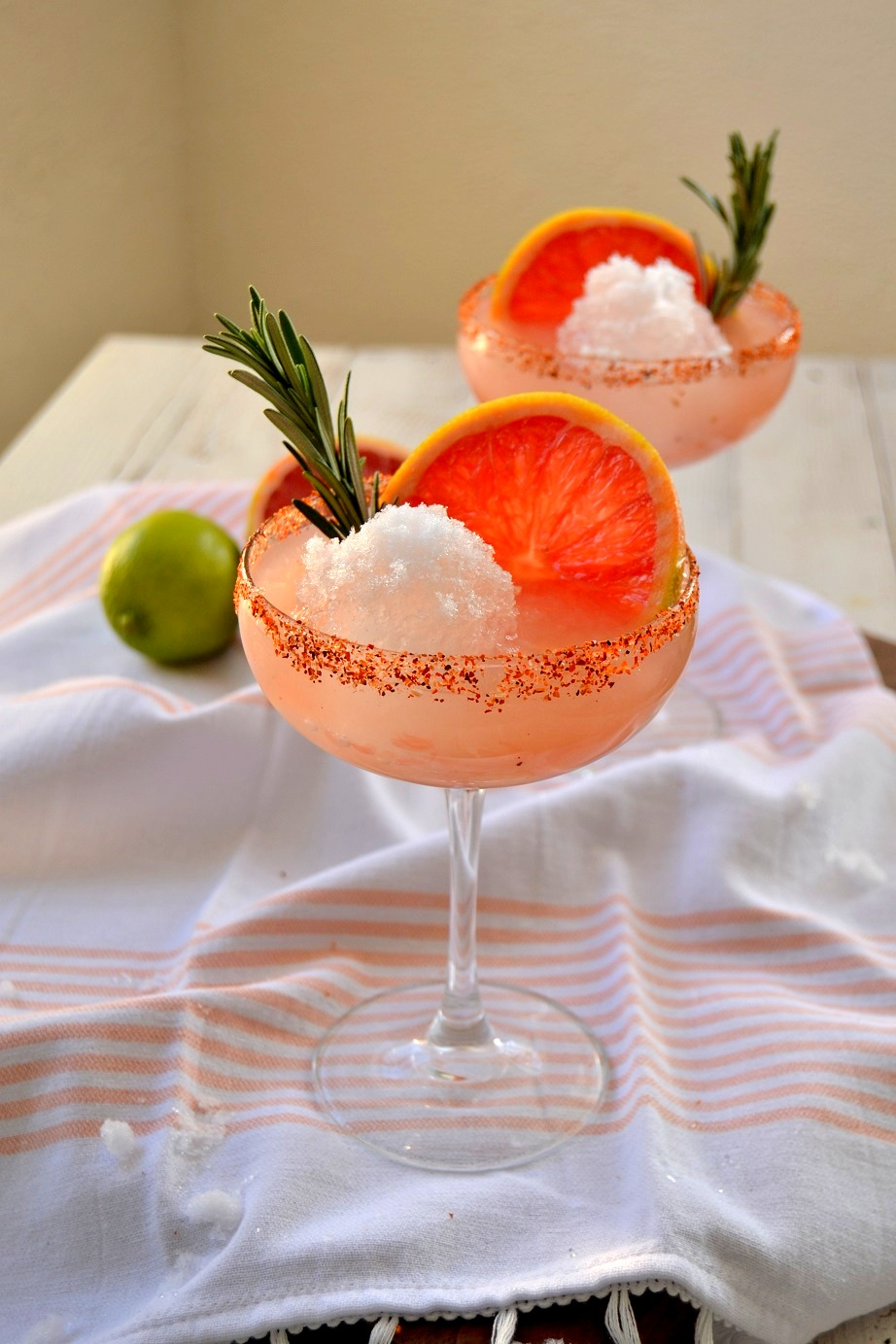 Rosemary Grapefruit Snowball Margarita