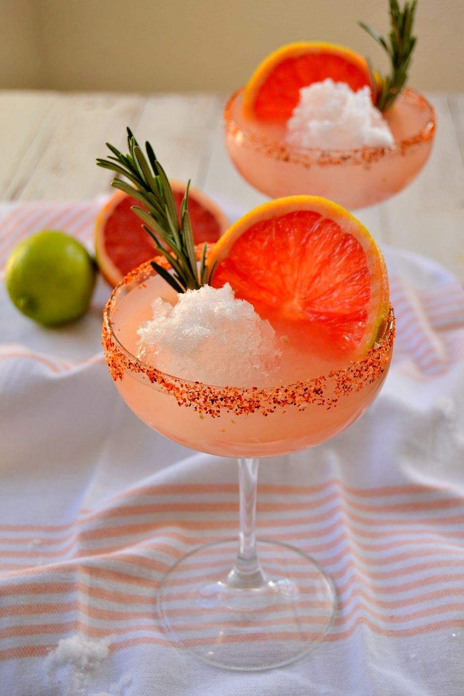 Fair Robin Revival - Rosemary Grapefruit Snowball Margarita