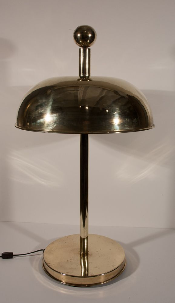 Pair of Polished Brass Nautical Table Lamps  Fair Trade