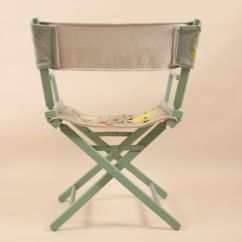 Fishing Chair Add Ons Best Folding Chairs Director 39s With Embroidered Tropical Fish On Canvas