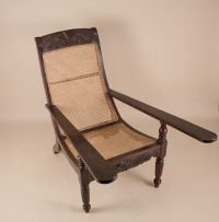 Antique Anglo-Indian Exotic Hardwood Caned Planters Chair ...