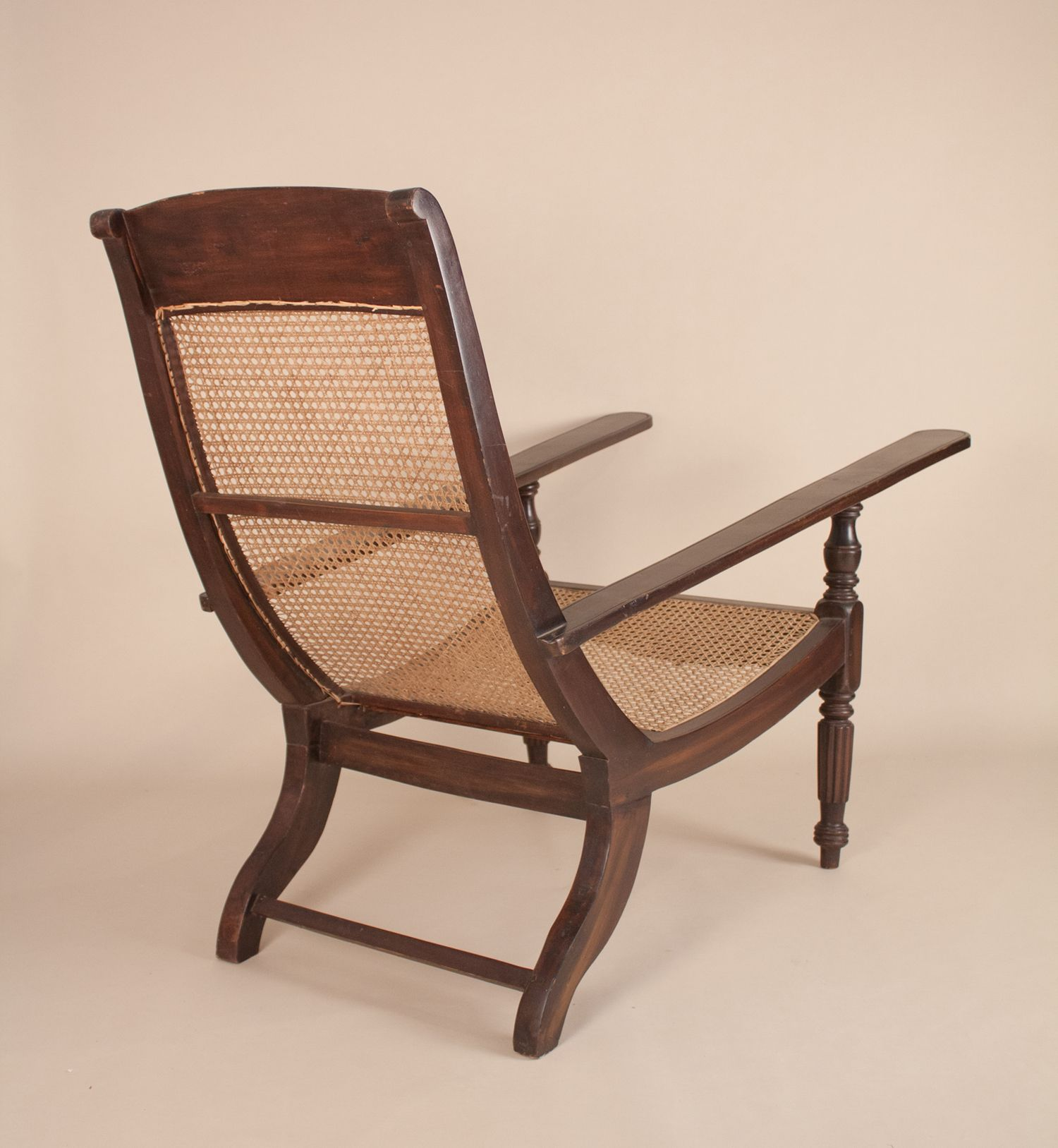 british colonial chair how to a bean bag antique anglo indian exotic hardwood caned planters