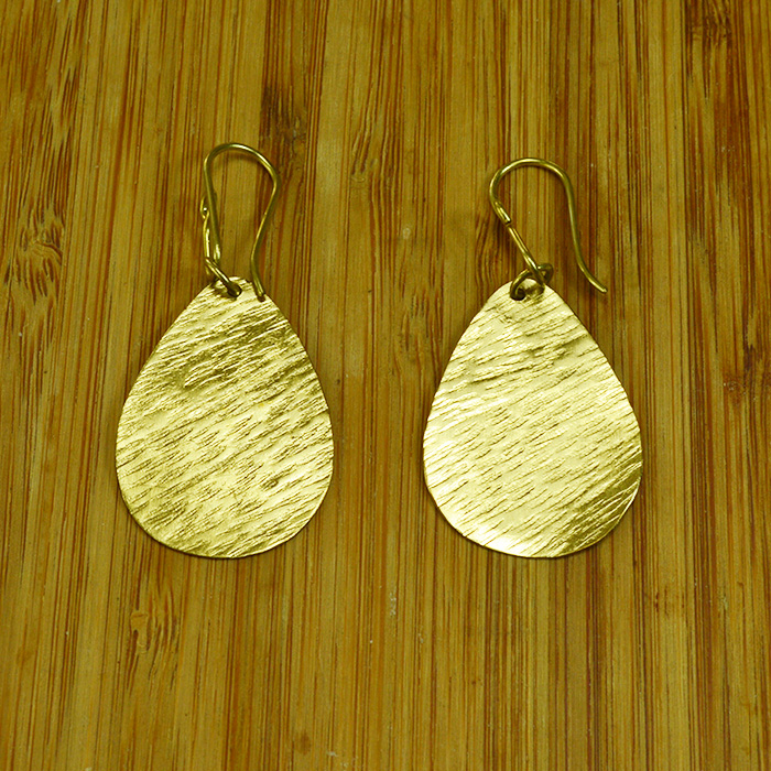 Brass teardrop earrings JEMB40