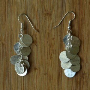 Fair Trade Silver plate short Kenyan coin earrings JELS4