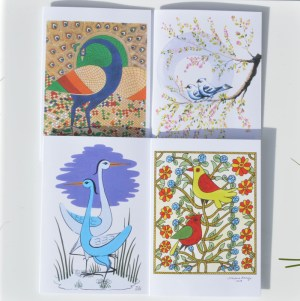 Fair Trade Cards Indian birds – pack of four – CPib