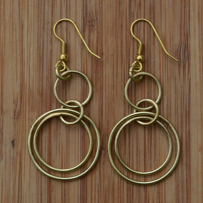 Fair Trade Brass rings earrings JEBB10