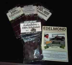 Edelmond Schokoladen Paket und Edelmond Broschüre