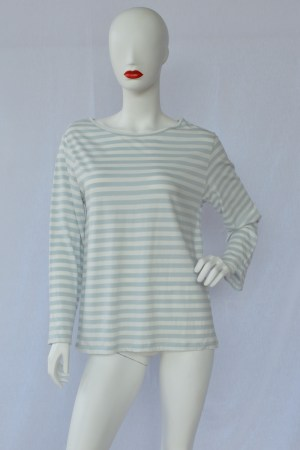 fair trade organic top grey stripes