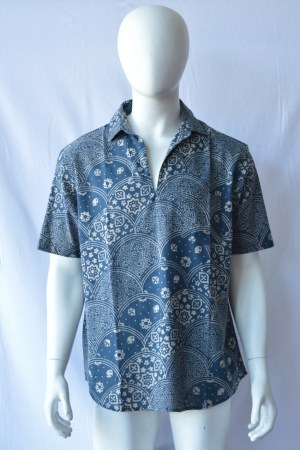 ajrack blockprinted men's shirt
