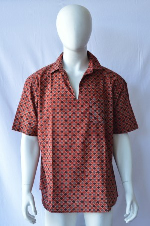 blockprinted men's shirt