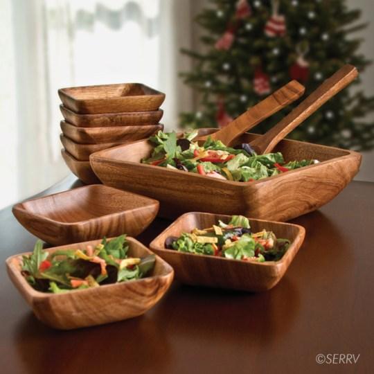 acacia salad set