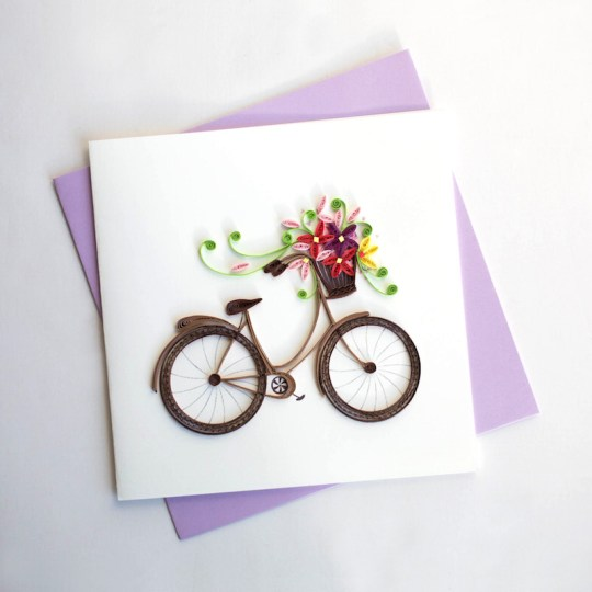 bike quilling card