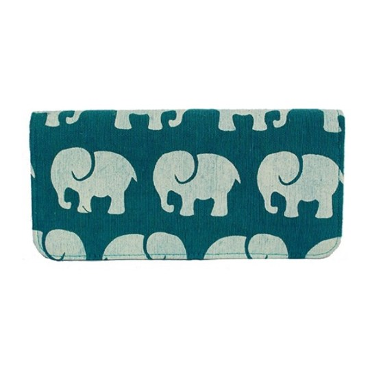 teal elephants wallet