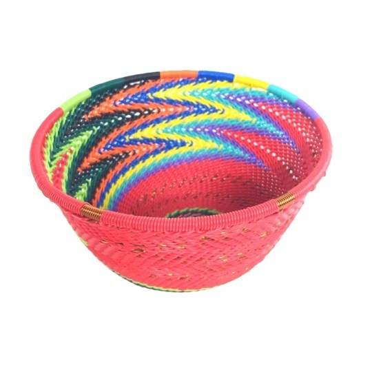 telephone wire bowl rainbow