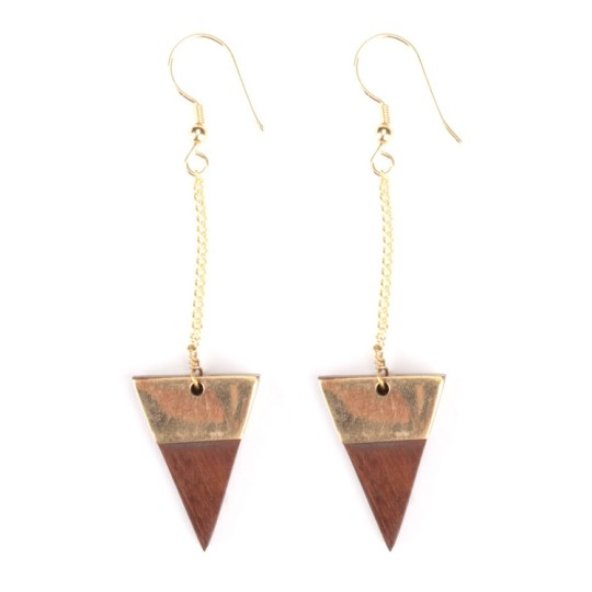 trailing triangles earrings