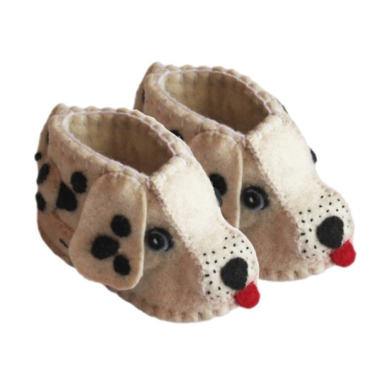 dalmatian felt baby shoes