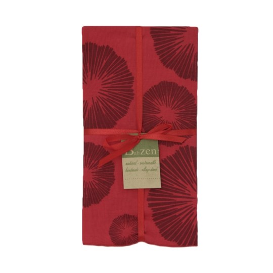 red maroon seaflowers cotton napkins