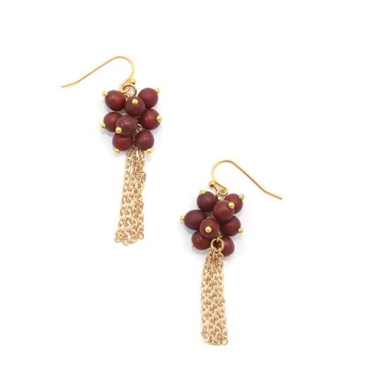 roma ear-burgundy