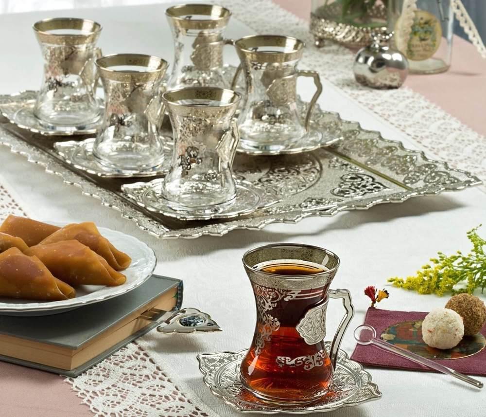 Moroccan Tea Set  FairTurkcom