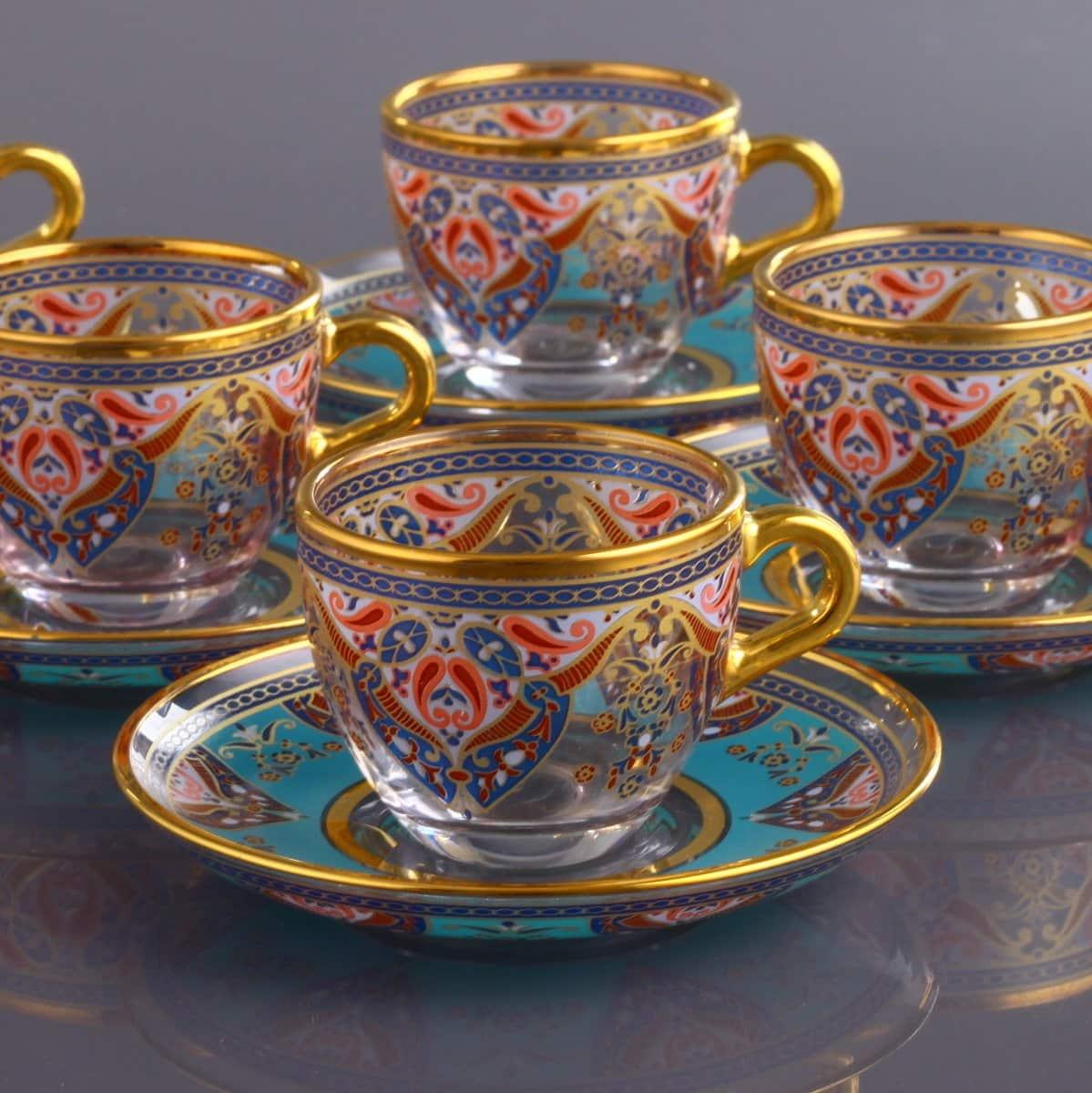 Evla Ethnic Turkish Coffee Cups For Six Person  FairTurkcom