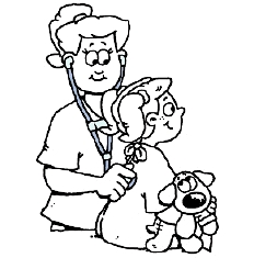 Surgery Coloring Sheet for Kids: Before Surgery
