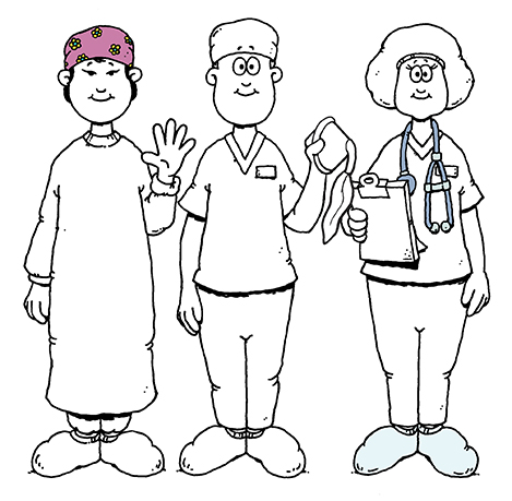 Surgery Coloring Sheet for Kids: People You See