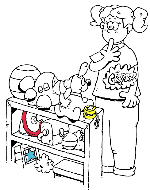 Surgery Coloring Sheet for Kids: Getting Ready at Home