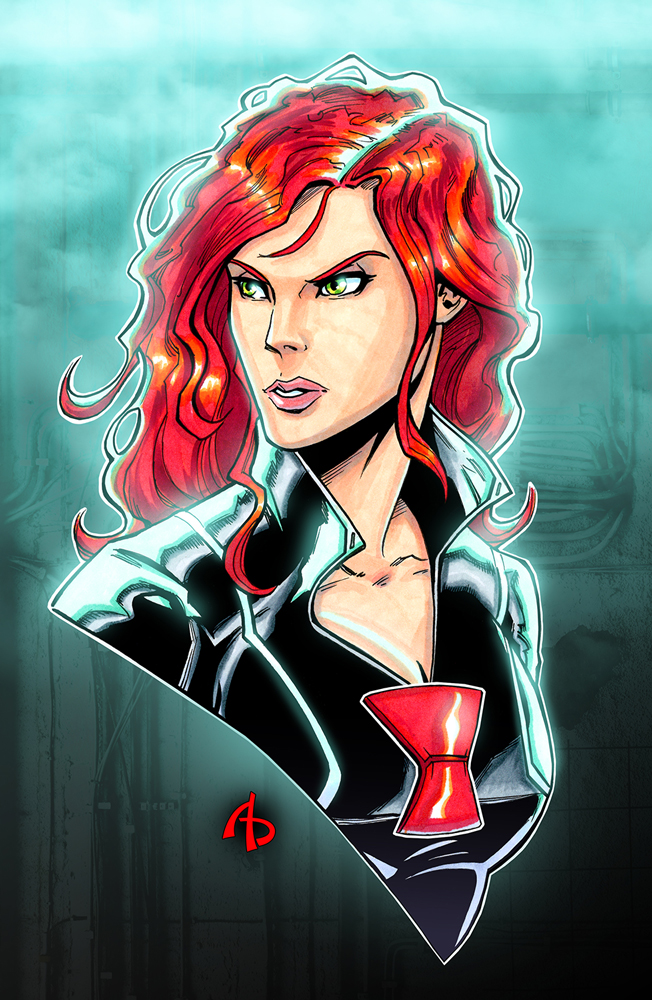 Black Widow by Adam Buttrey - Artist