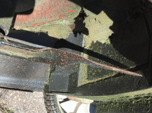 damaged mower blades