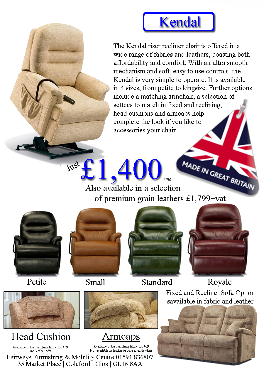 british mobility chairs large christmas chair covers riser recliner fairways furnishing centre kendal