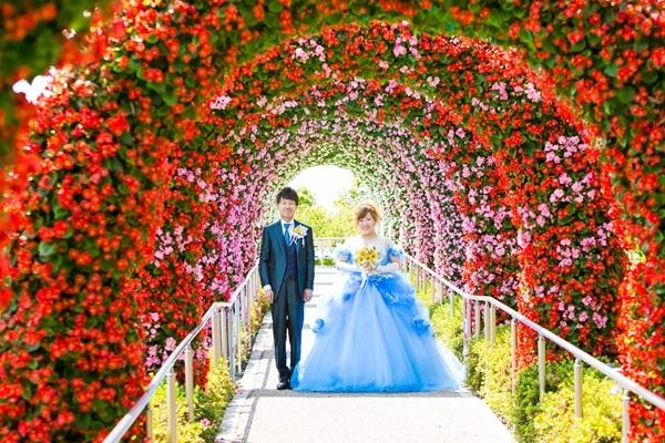 今話題のテーマパーク「フラワーラグーン」での写真だけの結婚式