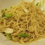 薑蔥麵 (Noodles with Ginger & Green Onions)