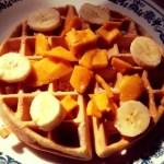 Mango Banana Waffles