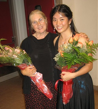 With my piano teacher! <3 I miss her lots!