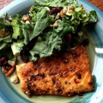 Asian Grilled Salmon with Kale Harvest Salad