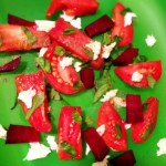Caprese Salad with Roasted Beets