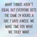 Make Time For What's Important