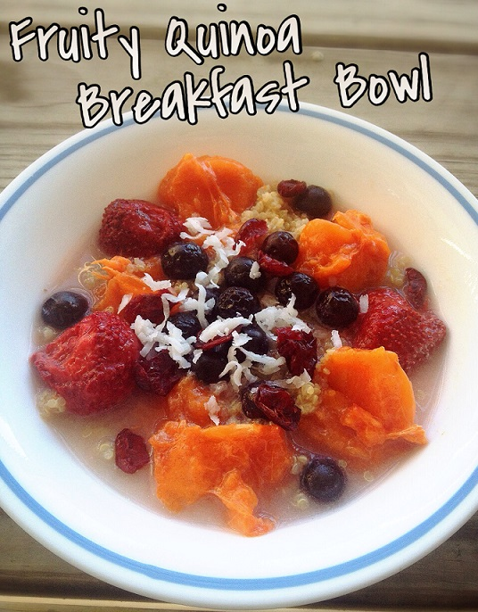 Fruity Quinoa Breakfast Bowl