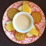 Sweet Potato Crackers with Coconut Honey Tahini Dip