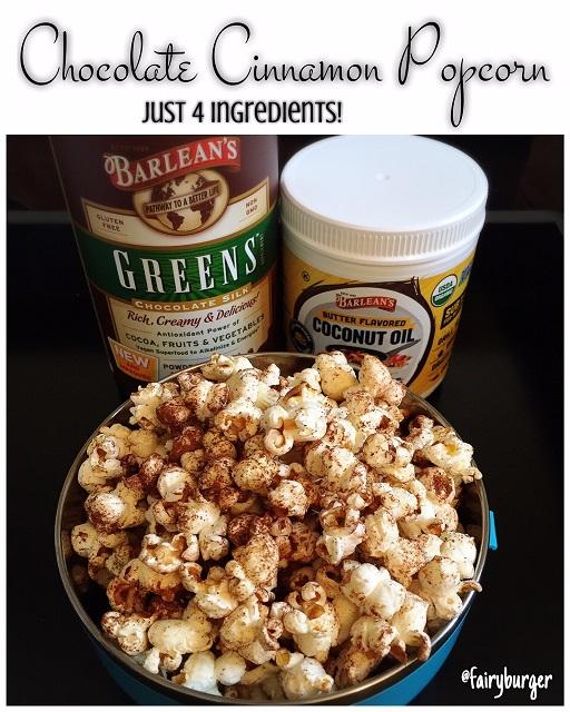 Chocolate Cinnamon Popcorn | @fairyburger