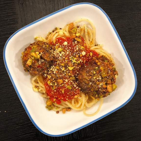 Pistachio Crusted Meatballs