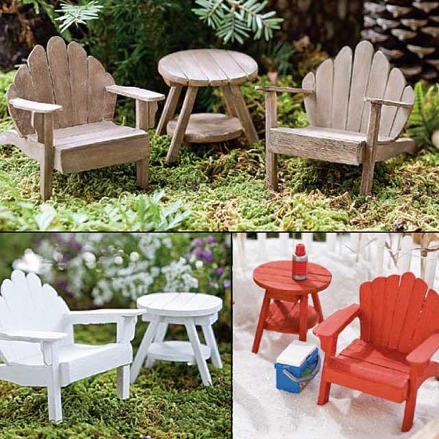 Miniature Adirondack chair  Fairy Garden Expert