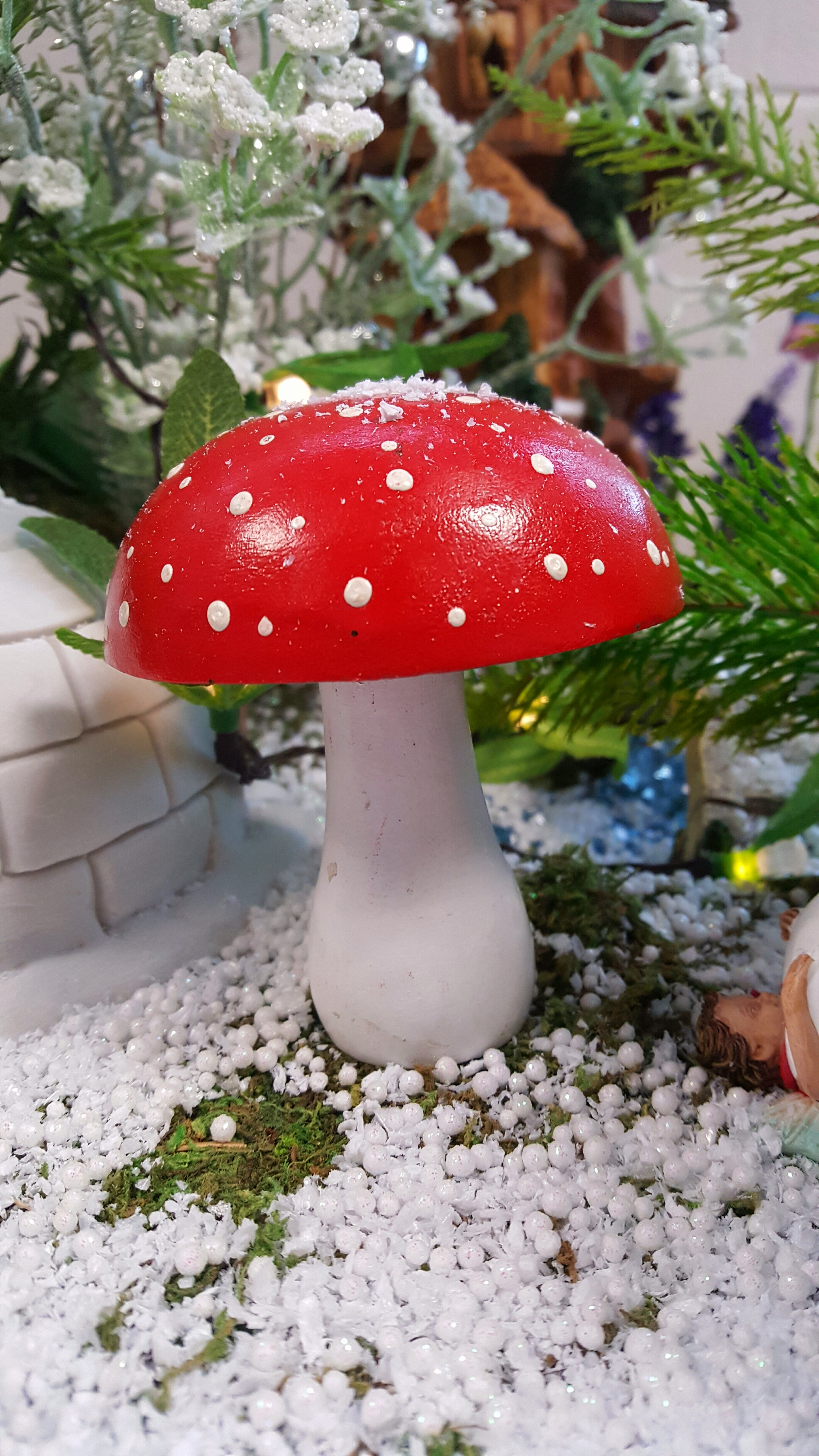 Red and white toadstoolfairygardensukcouk