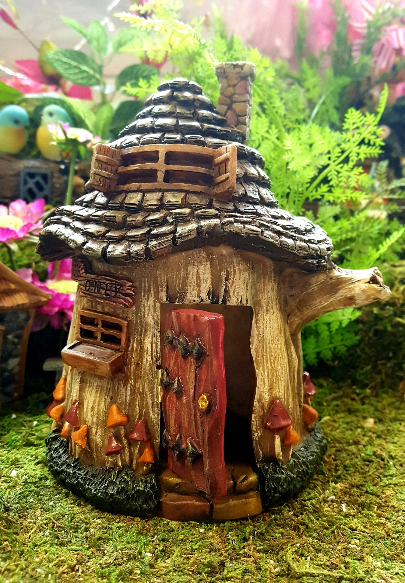 wooden garden chairs uk bloom chair accessories fairies only tree house - fairy gardens