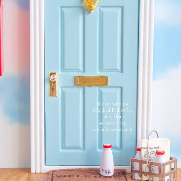 personalised blue elf door, UK