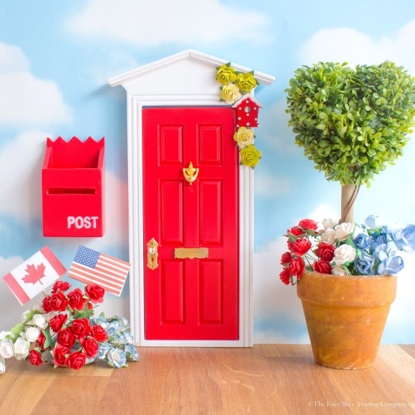 bright red Fairy Door, UK