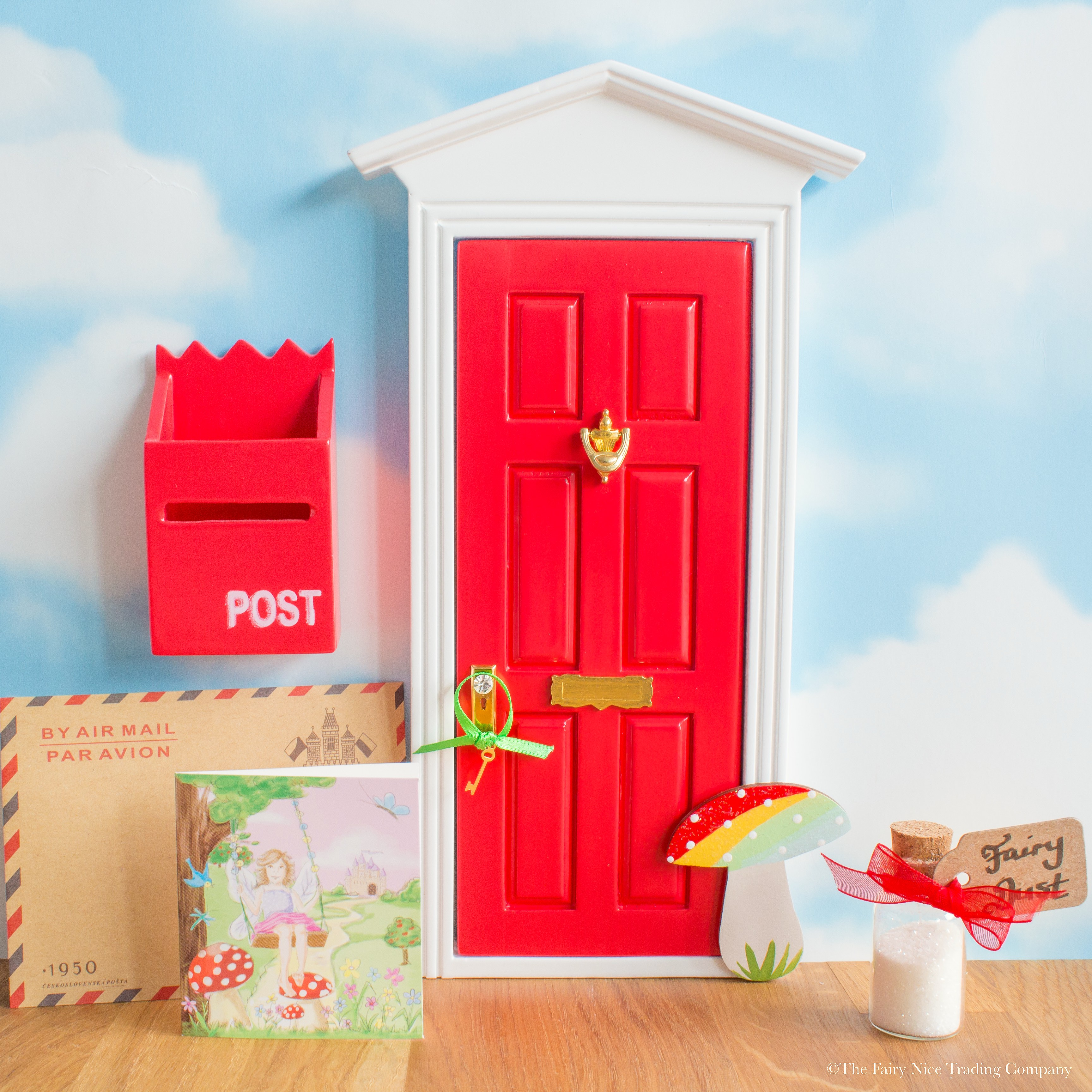 Red Fairy Door With Toadstool The Fairy Nice Trading Company