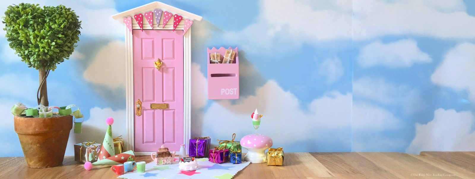 Pink Fairy Door for birthdays UK